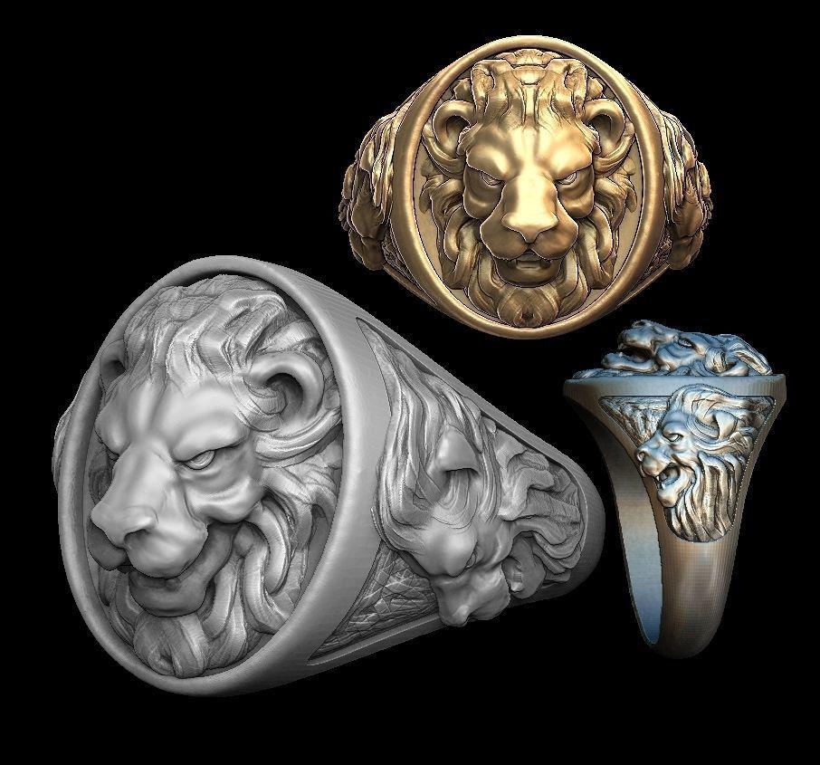 Lion man ring