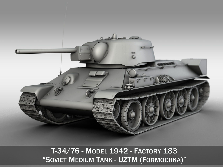 T-34-76 UZTM - Model 1942 - Soviet Medium Tank
