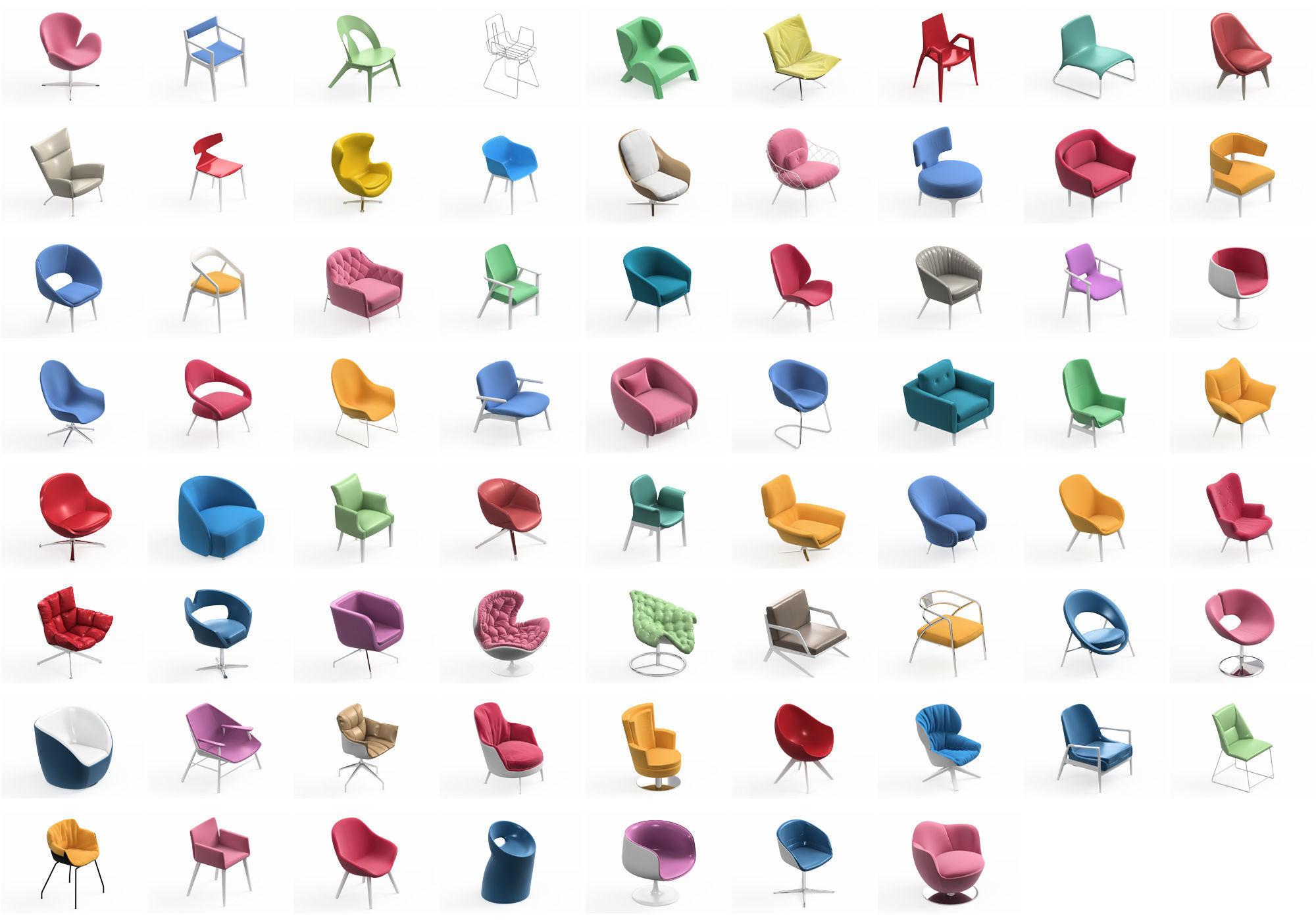 Armchair Modern Collection 70x