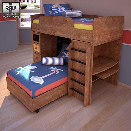 3d asset ashley alexander youth loft bed cgtrader bunk bed bedroom sets kids bunk bed trundle bedroom set