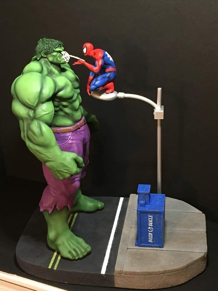 Fan Art - Hulk and Spider Man Diorama