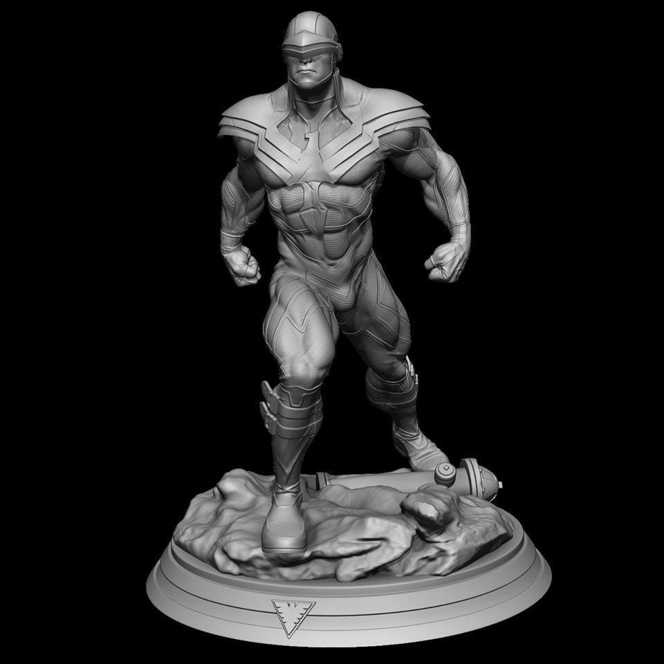 Fan Art - Phoenix Force Cyclops