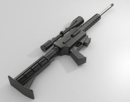 3d model 17 hmr gun VR / AR ready