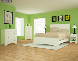 3D model Bedroom Furniture 28 Set