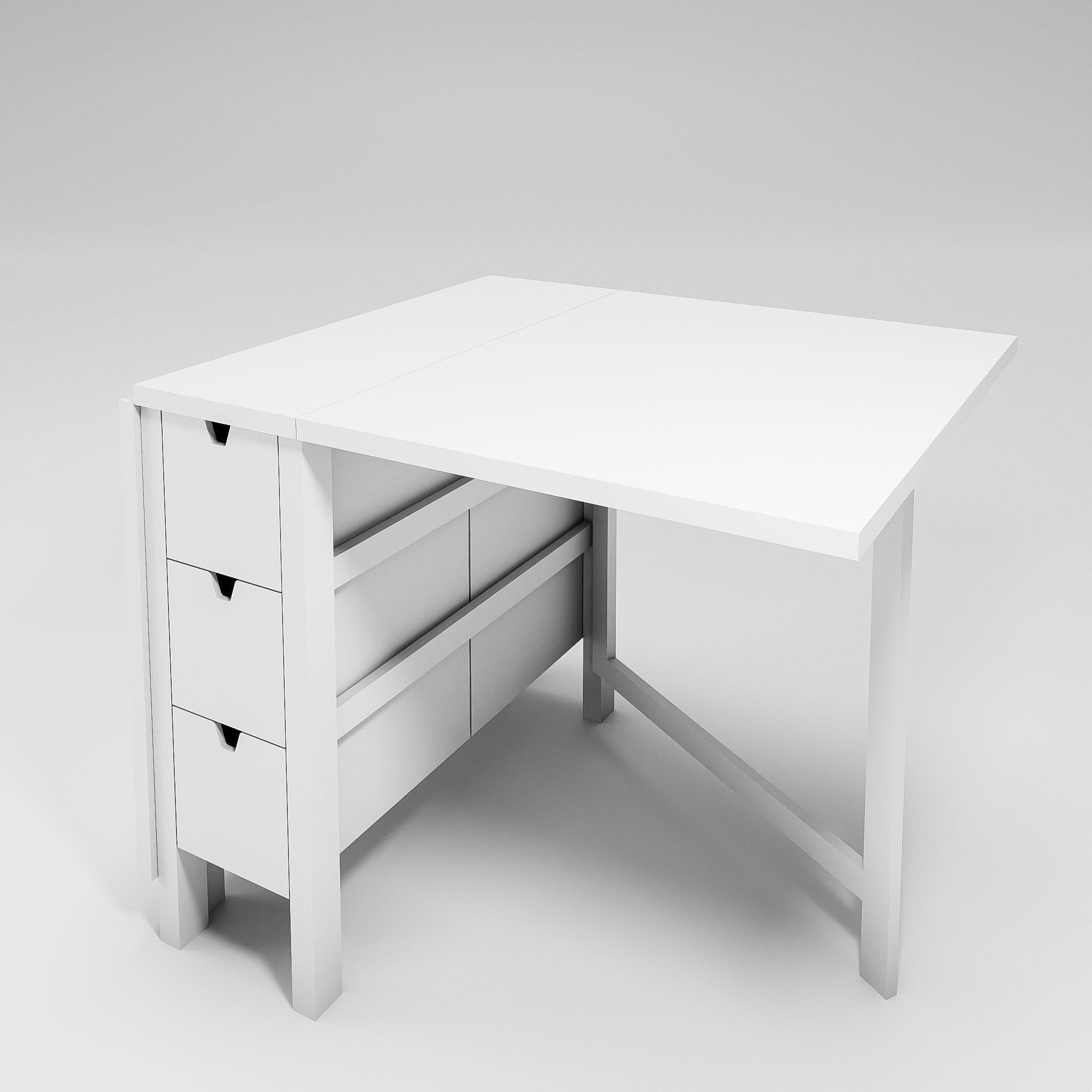 Ikea Norden Gateleg Table 3d Cgtrader