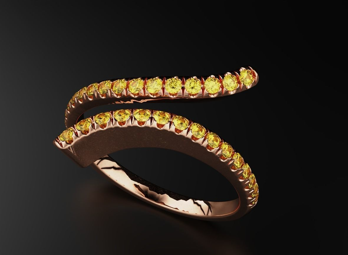 Stylish ring with diamonds for girls 543