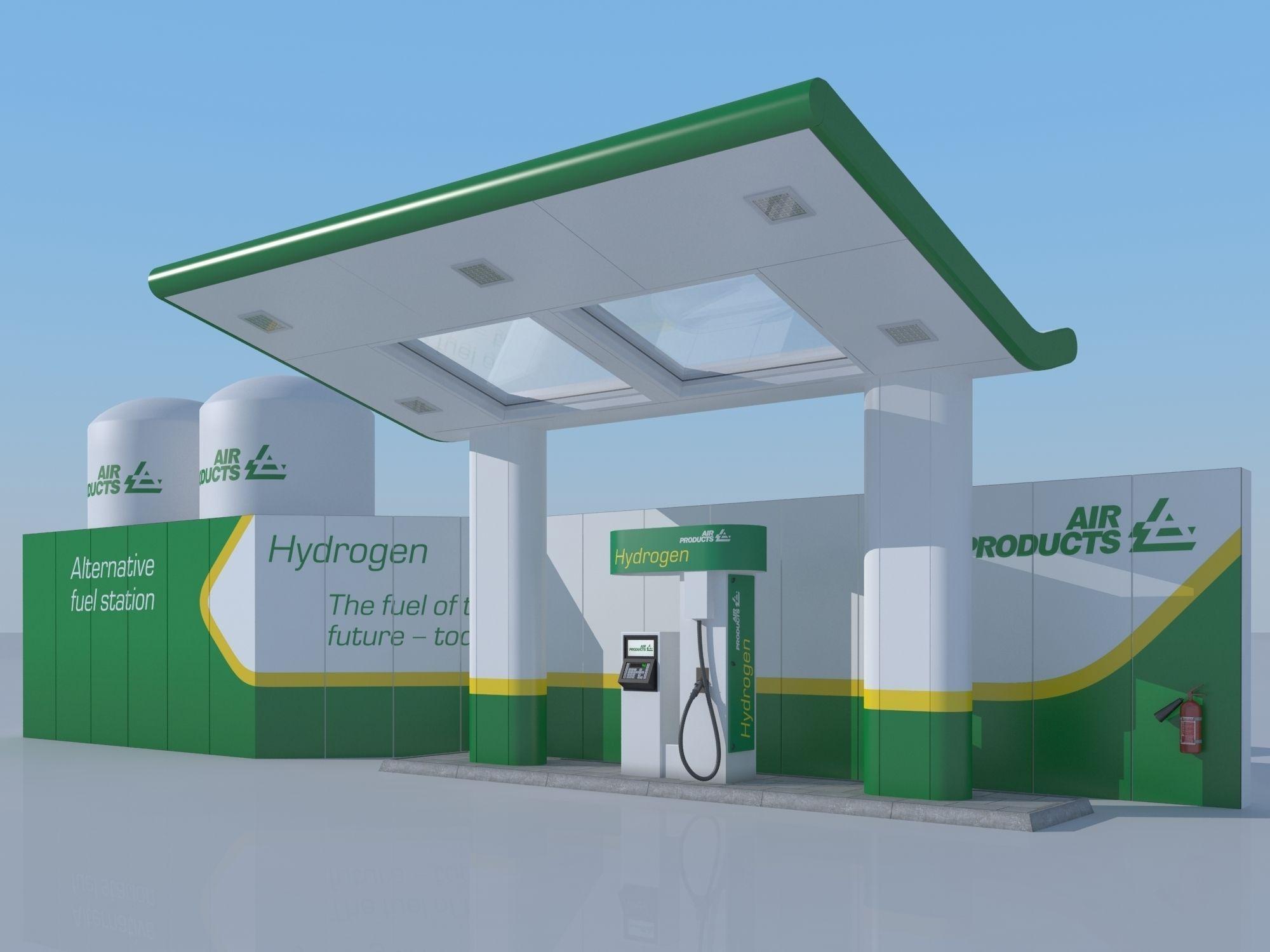 Hydrogen gas station