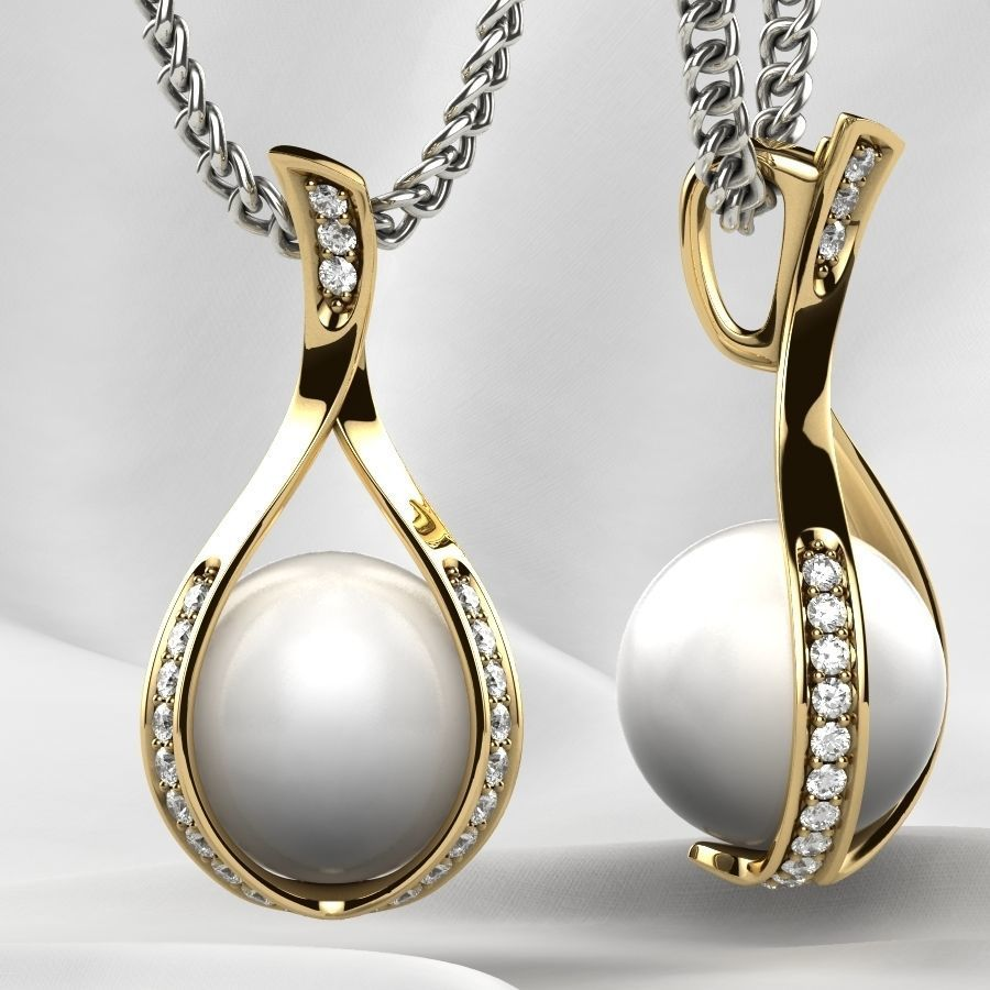 9mm Pearl Gold Pendant