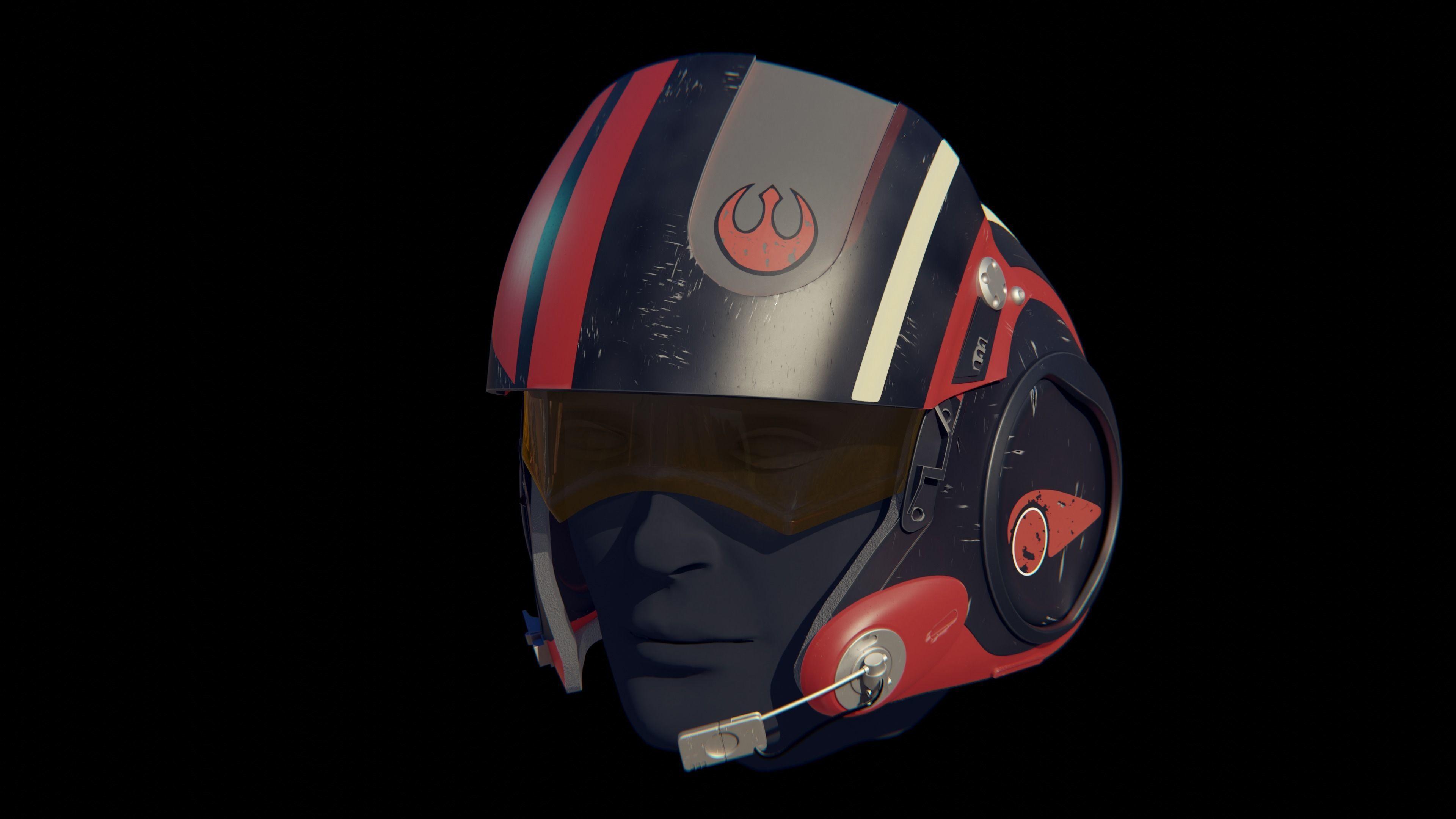 X-Wing pilot helmet Poe Dameron from Star Wars
