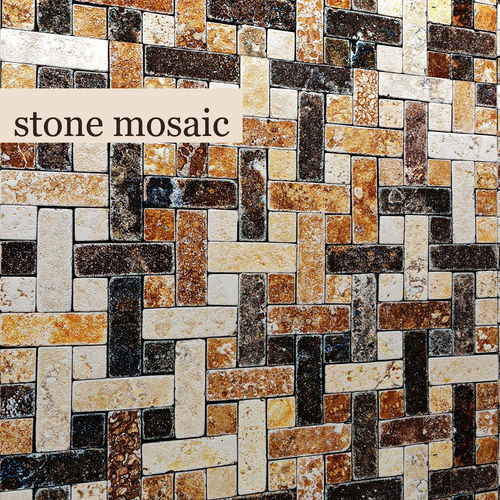 stone mosaic 3d  3d model max obj fbx mtl unitypackage 1
