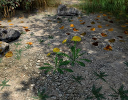 20 Ground Plants For Games 3D asset