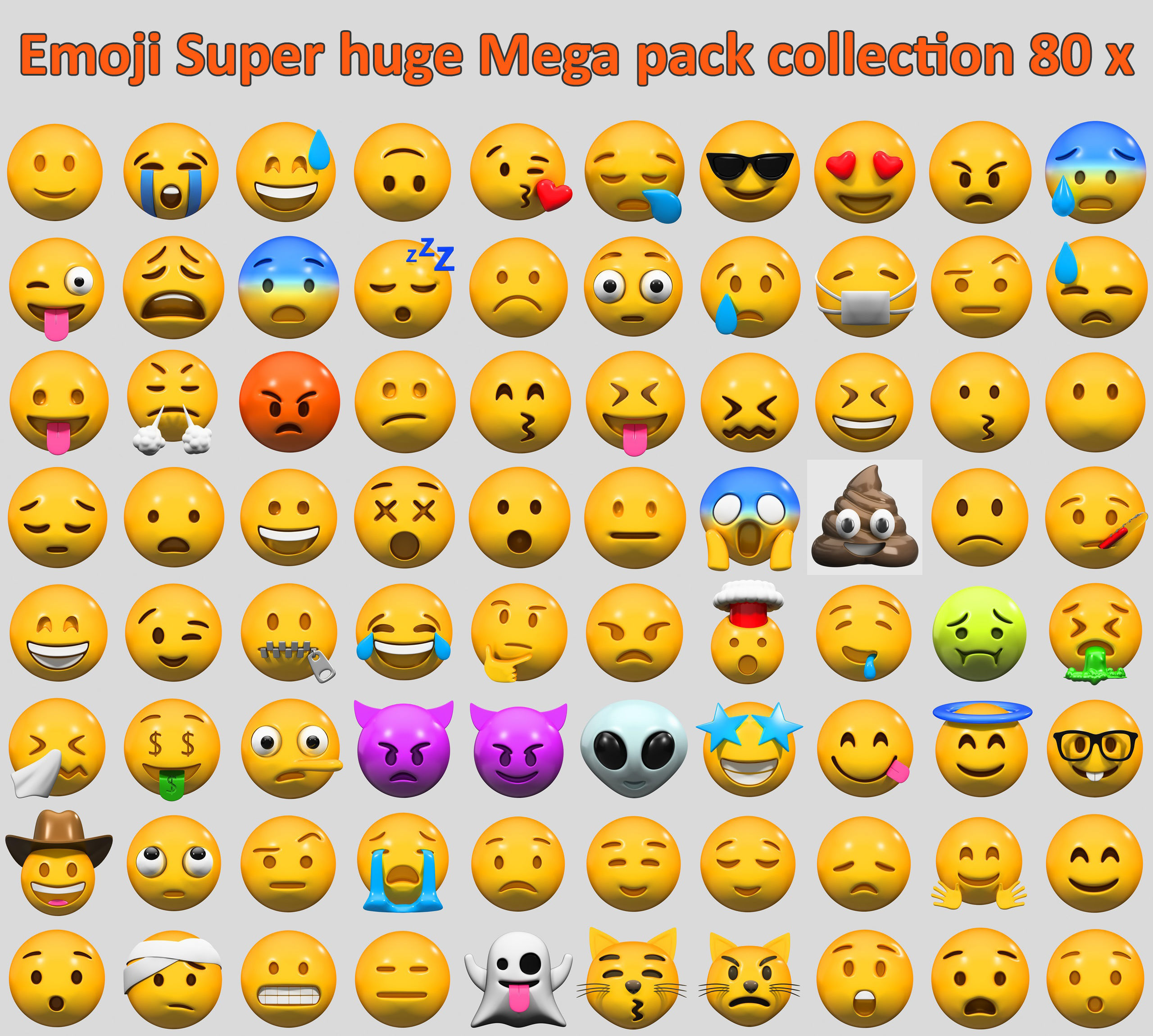 Emoji Super huge Mega pack collection 80 x