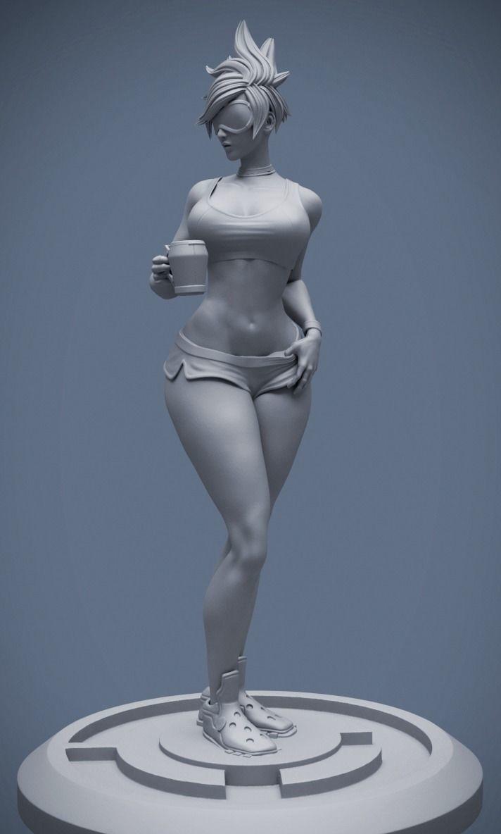 Tracer overwatch figurine