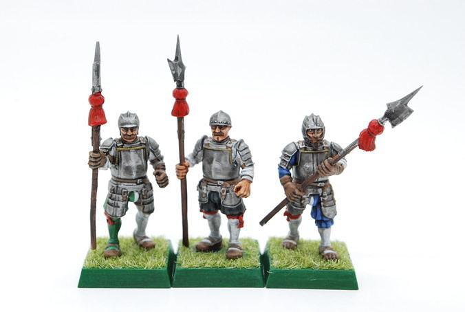 Landsknecht halberdiers and spearmen