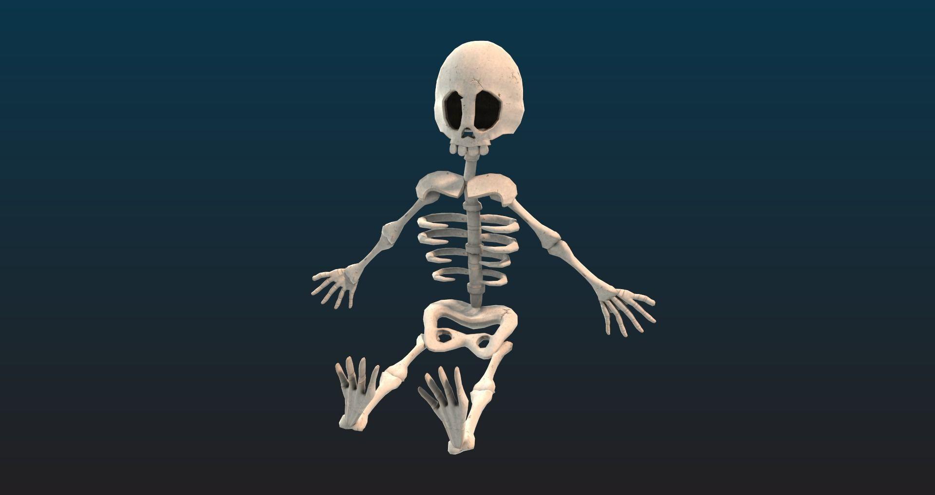 Cartoon style Skeleton for games