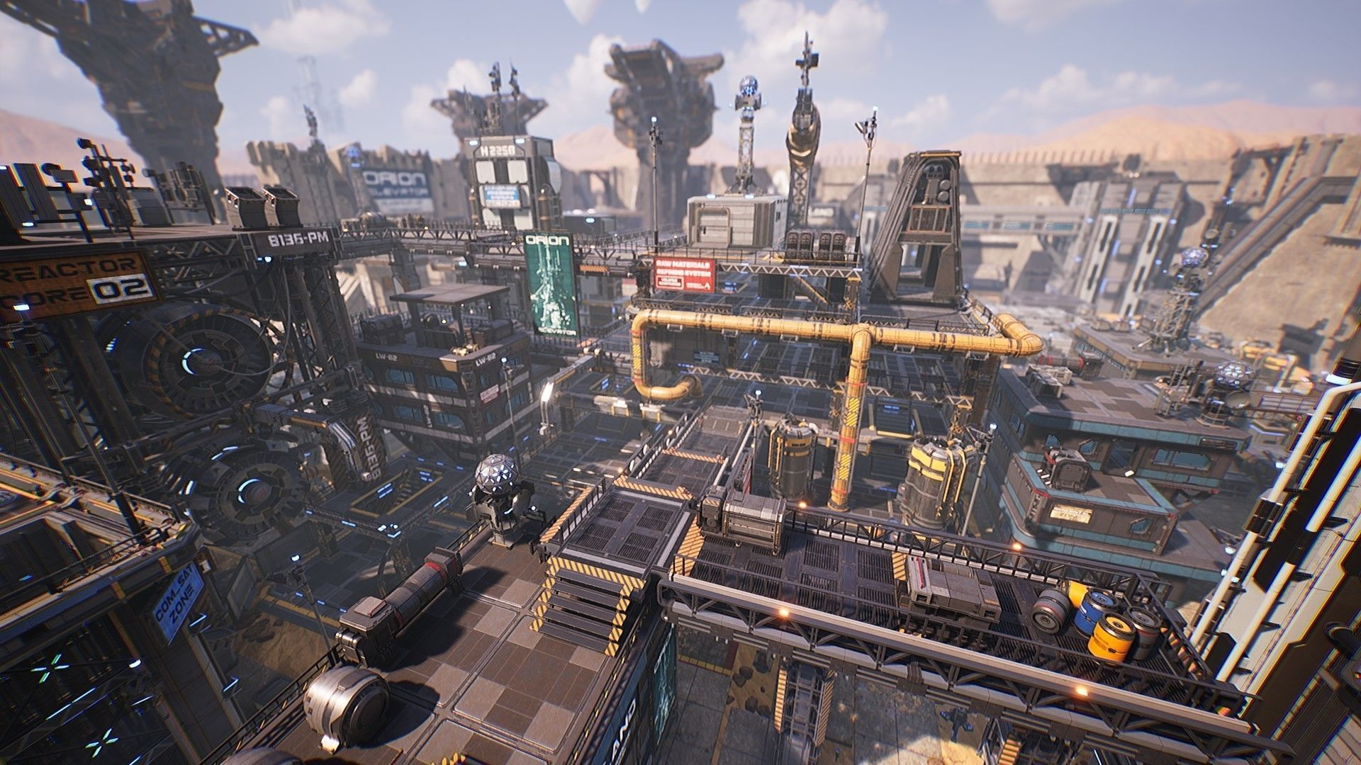 Sci-Fi Industrial Base - Unreal project