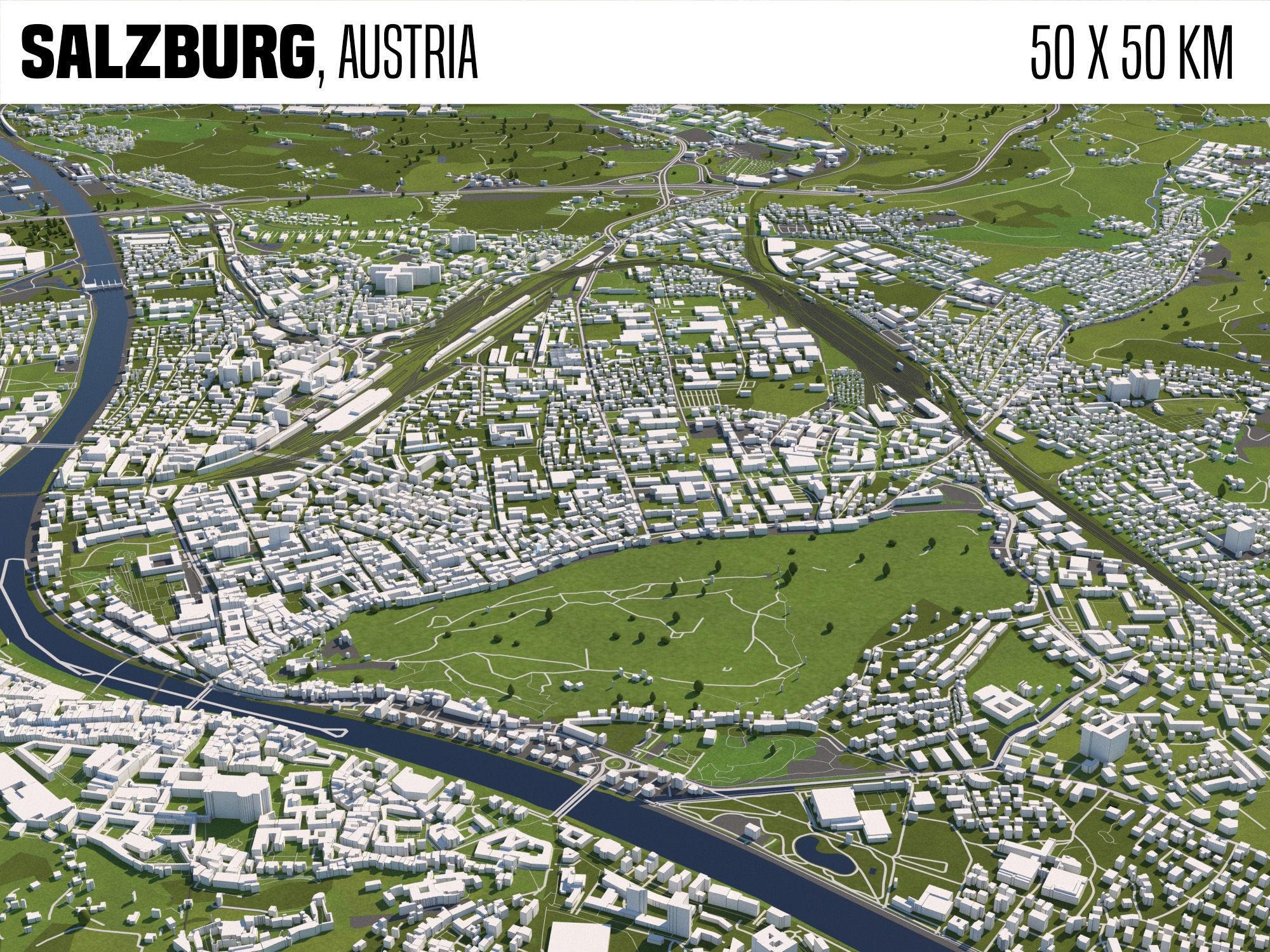 Salzburg Austria 50x50km