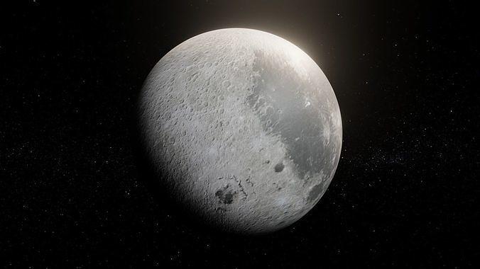 Photorealistic Moon 8k Textures 3D Model