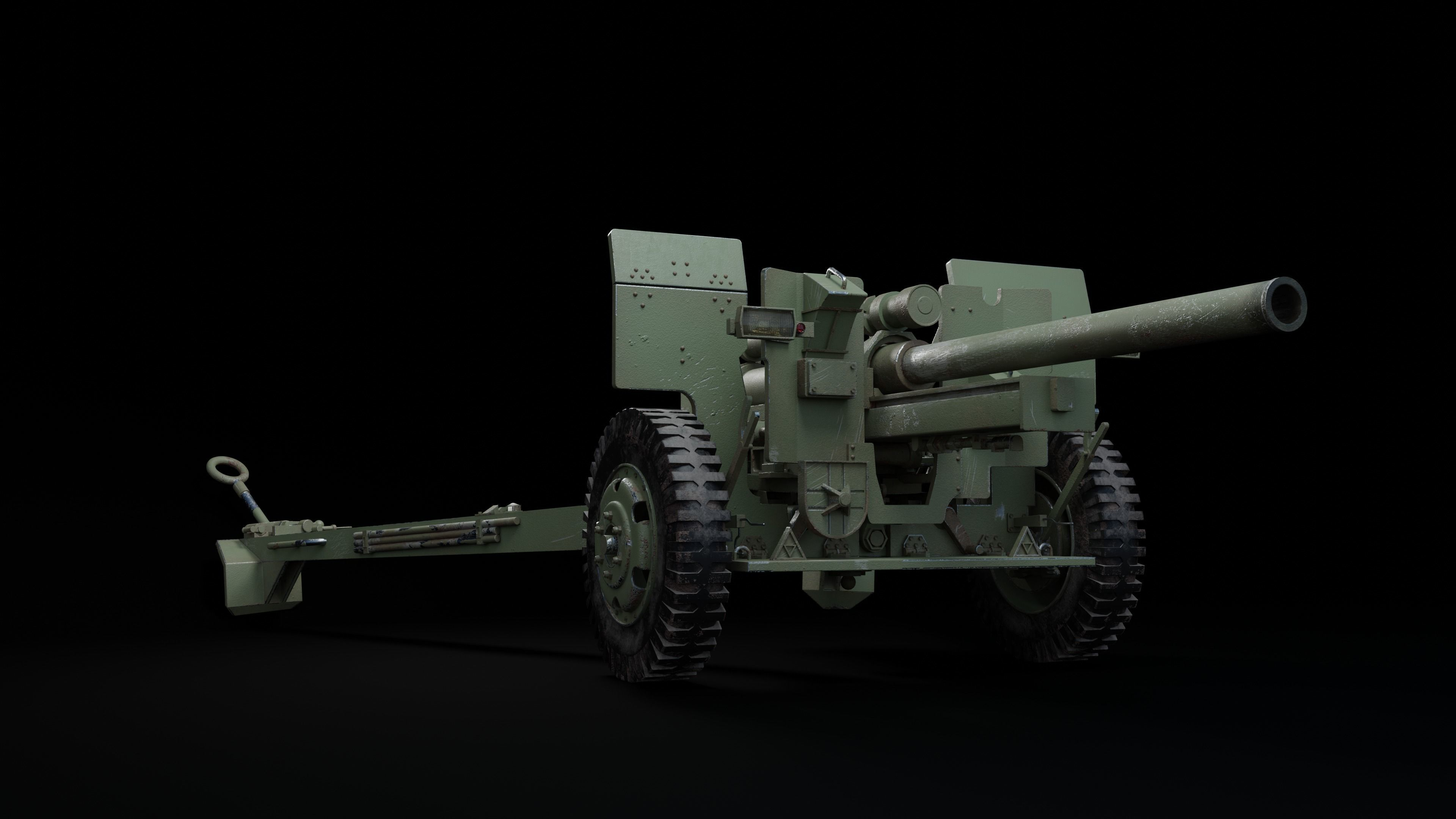 Weapon howitzer 105mm