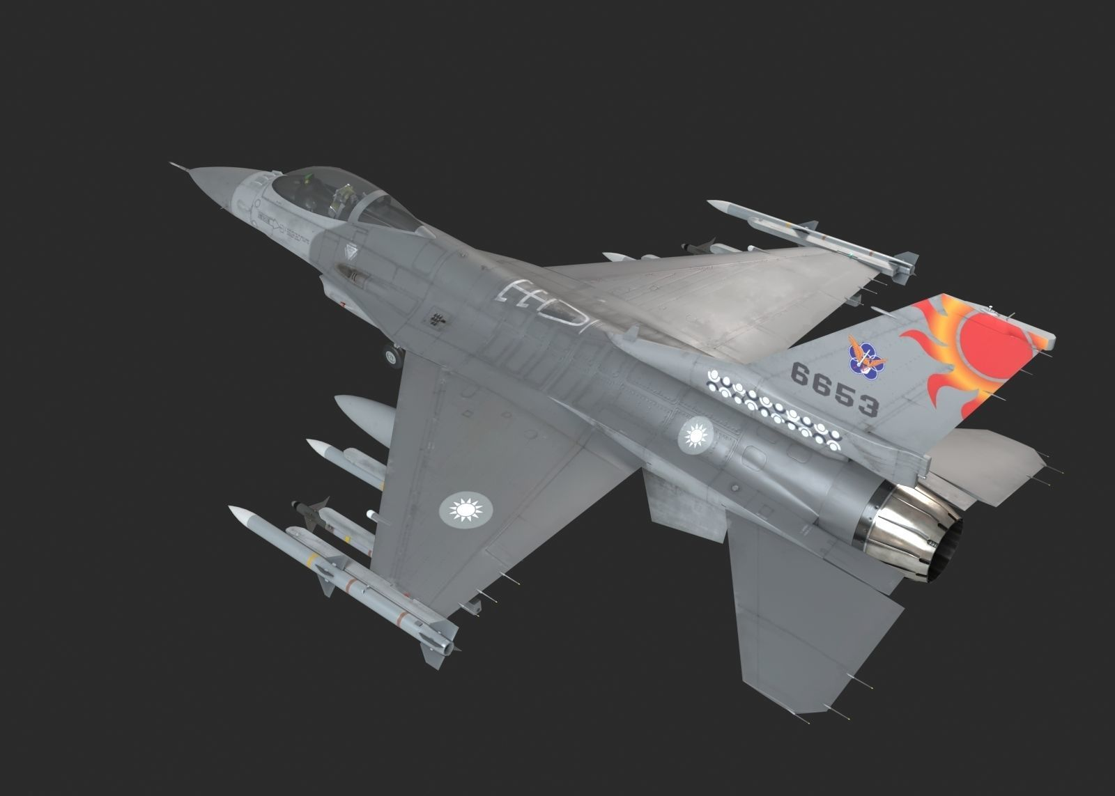 USA AIR FORCE F-16 Fighting Falcon Fighter USAF ROCAF F16