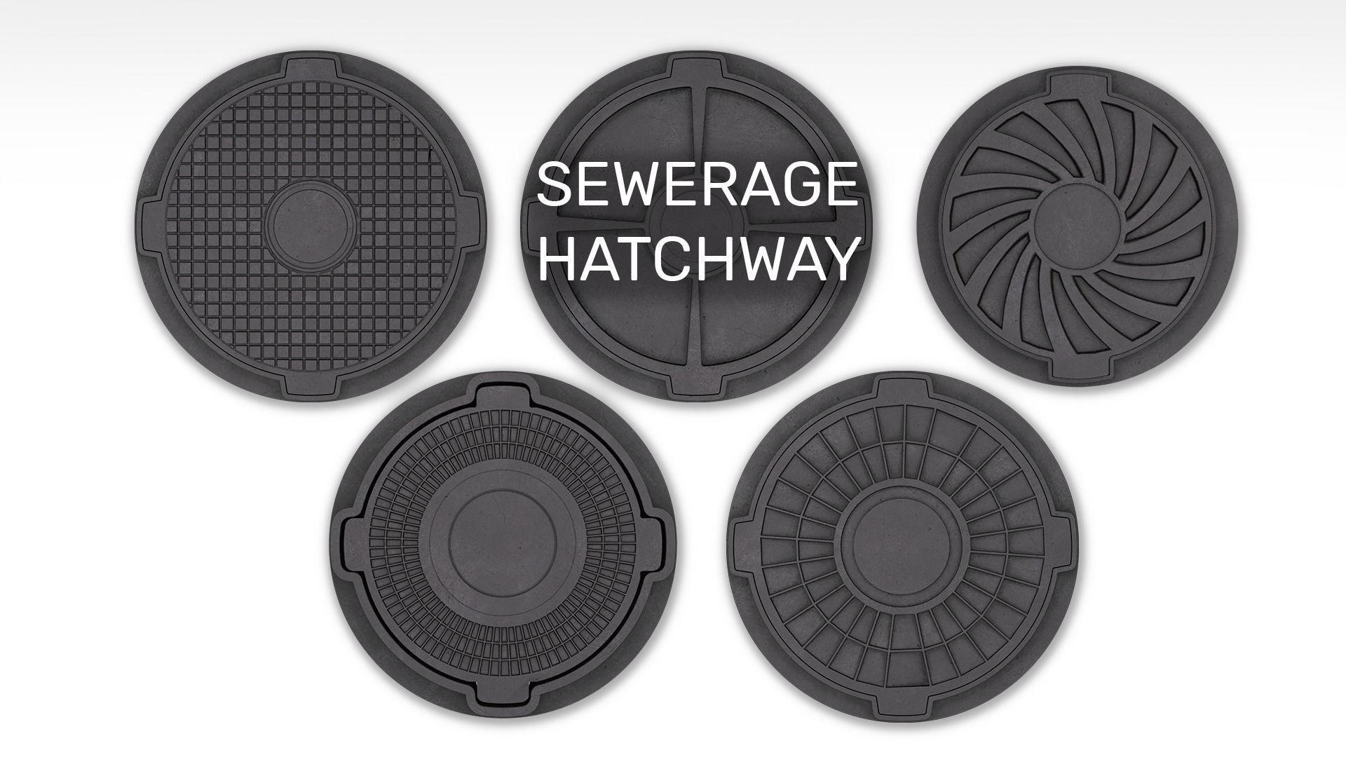 Sewerage hatchways set