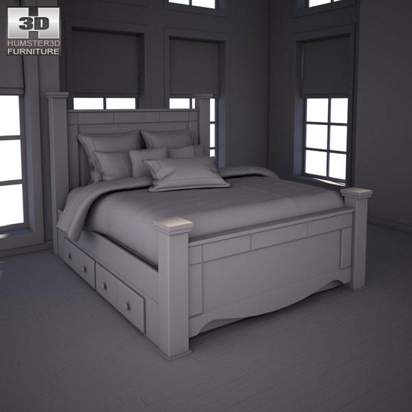 Wonderful ... Ashley Shay Poster Bedroom Set 3d Model Max Obj 3ds Fbx Mtl 4 ... Pictures Gallery