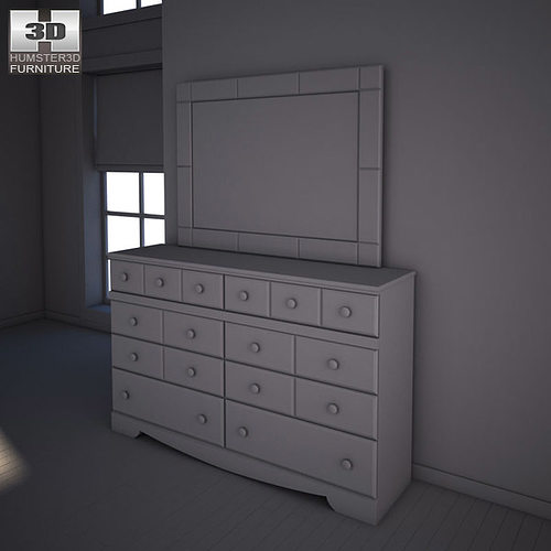 ... Ashley Shay Poster Bedroom Set 3d Model Max Obj 3ds Fbx Mtl 10 ...