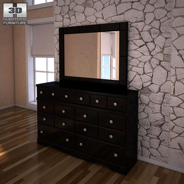 3D model Ashley Shay Dresser Mirror VR / AR / low-poly MAX OBJ 3DS ...