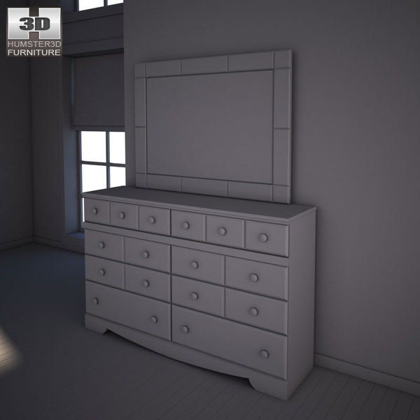 Ashley Shay Dresser Mirror Model Max Obj S Fbx Mtl 3