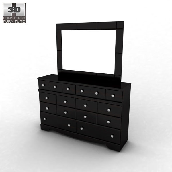 Ashley Shay Dresser Mirror Model Max Obj S Fbx Mtl 2