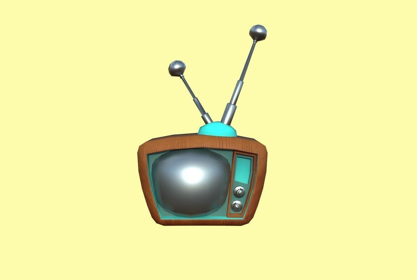 Cartoon Wood Tv