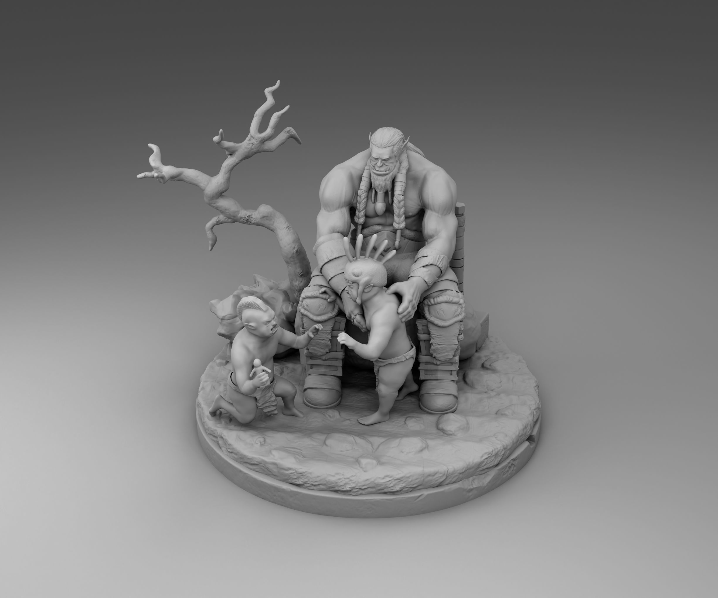 Orc with children
