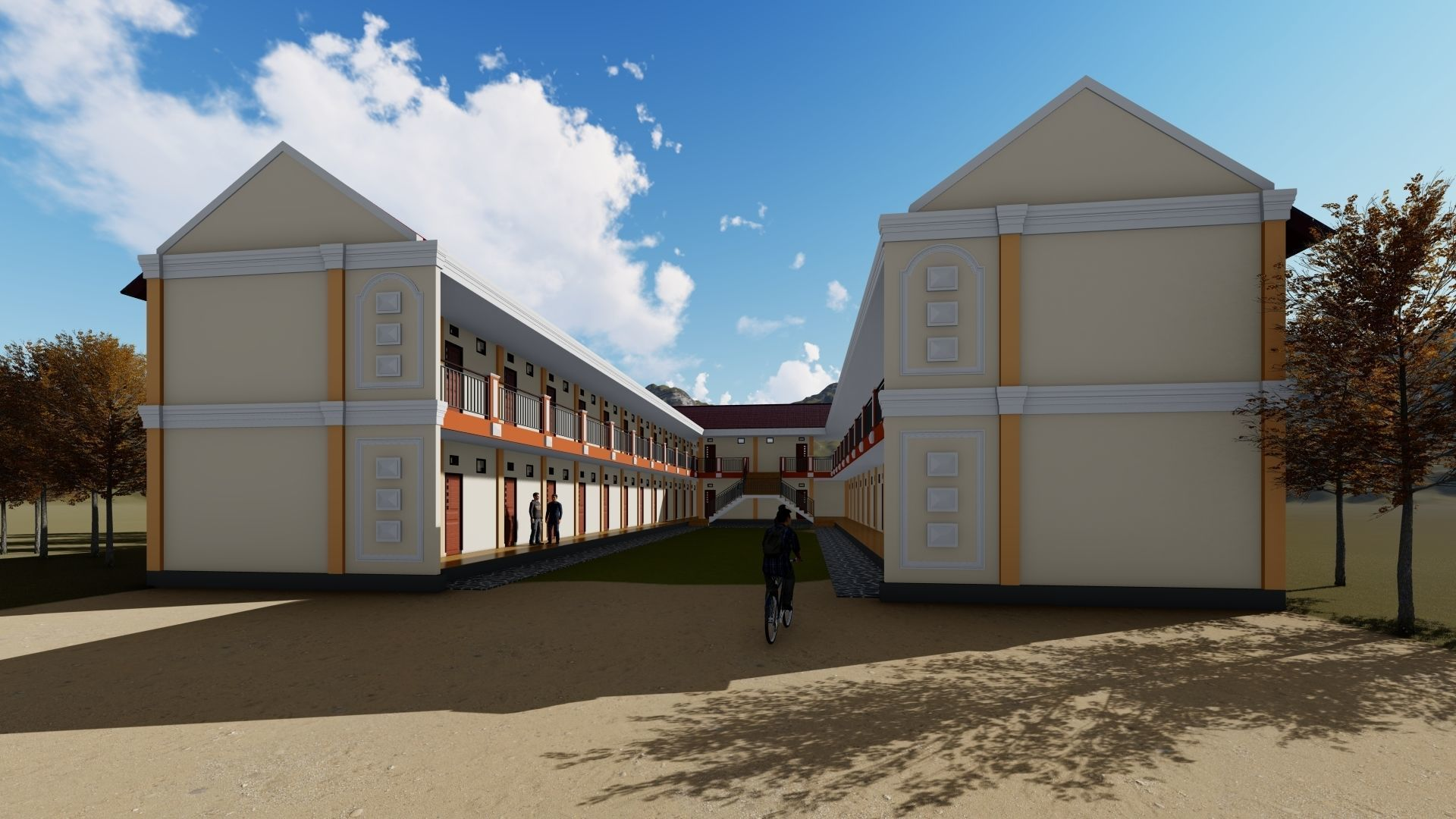 3D model Boarding House 02 use at indonesia | CGTrader