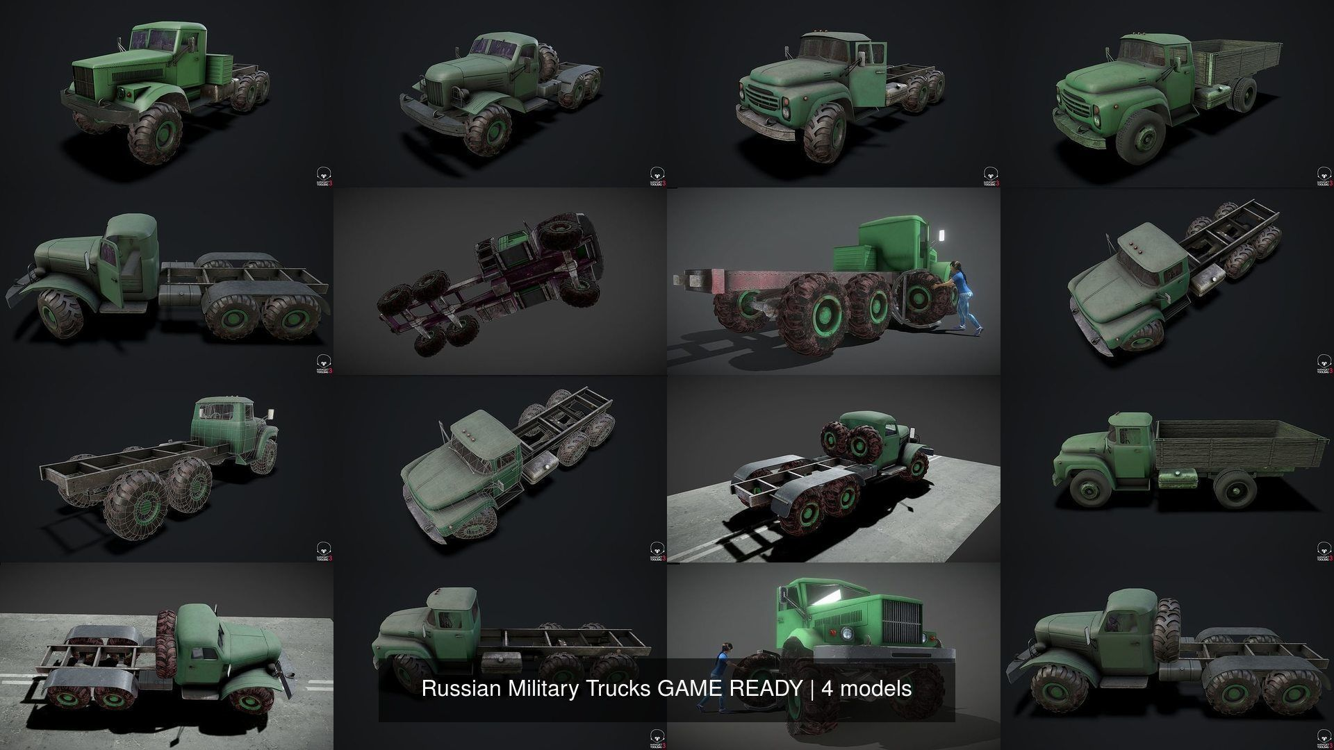 Russian Military Trucks GAME READY