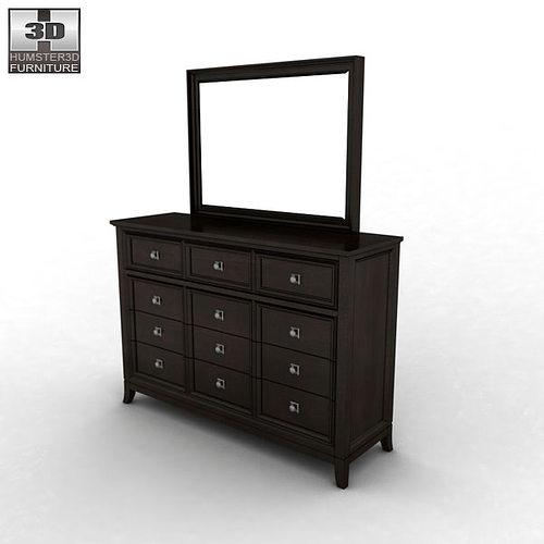 Great Ashley Martini Suite Storage Bedroom Set 3d Model Max Obj 3ds Fbx Mtl 11
