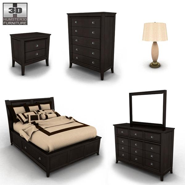 ... Ashley Martini Suite Storage Bedroom Set 3d Model Max Obj 3ds Fbx Mtl 2  ...