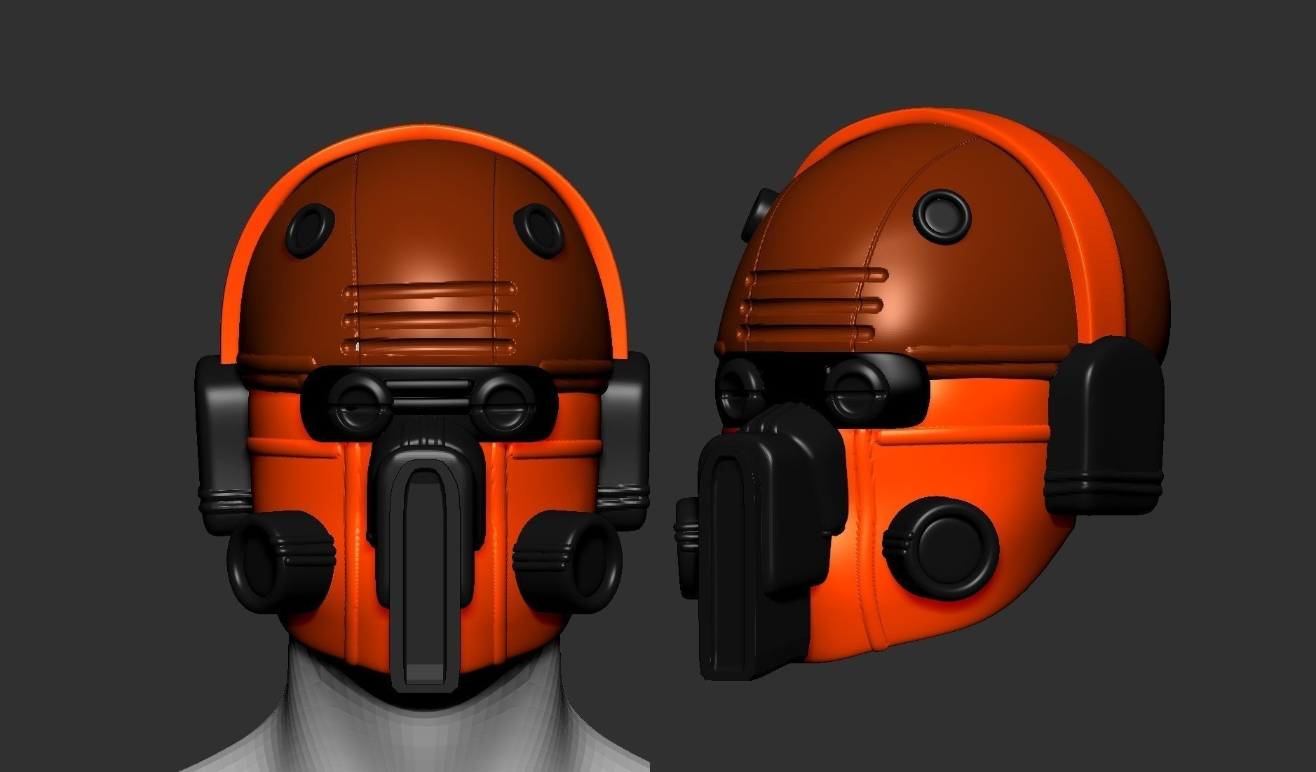 helmet high poly sculpt 3d printable