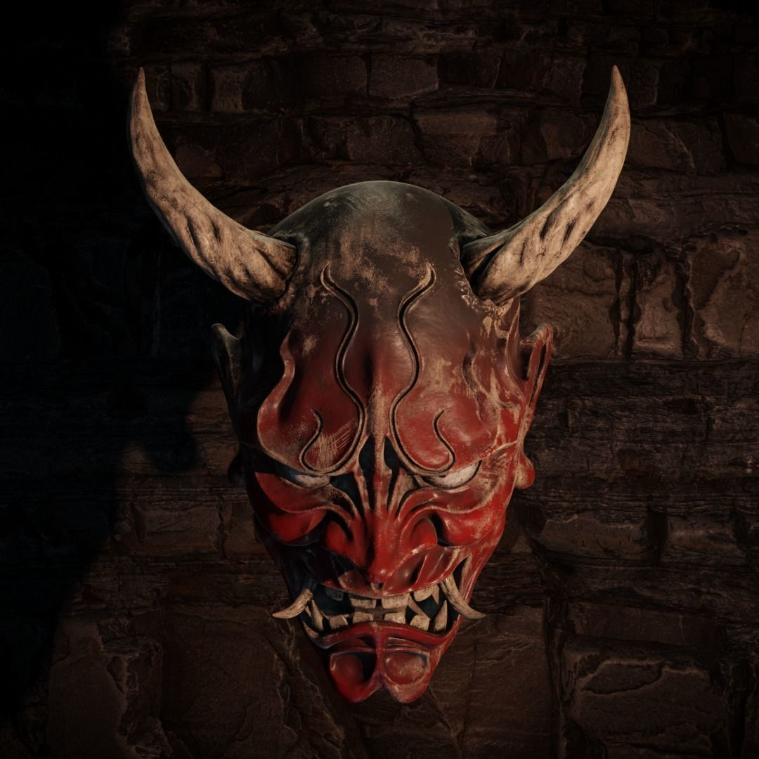 ONI Demon Mask PBR 8k High Resolution