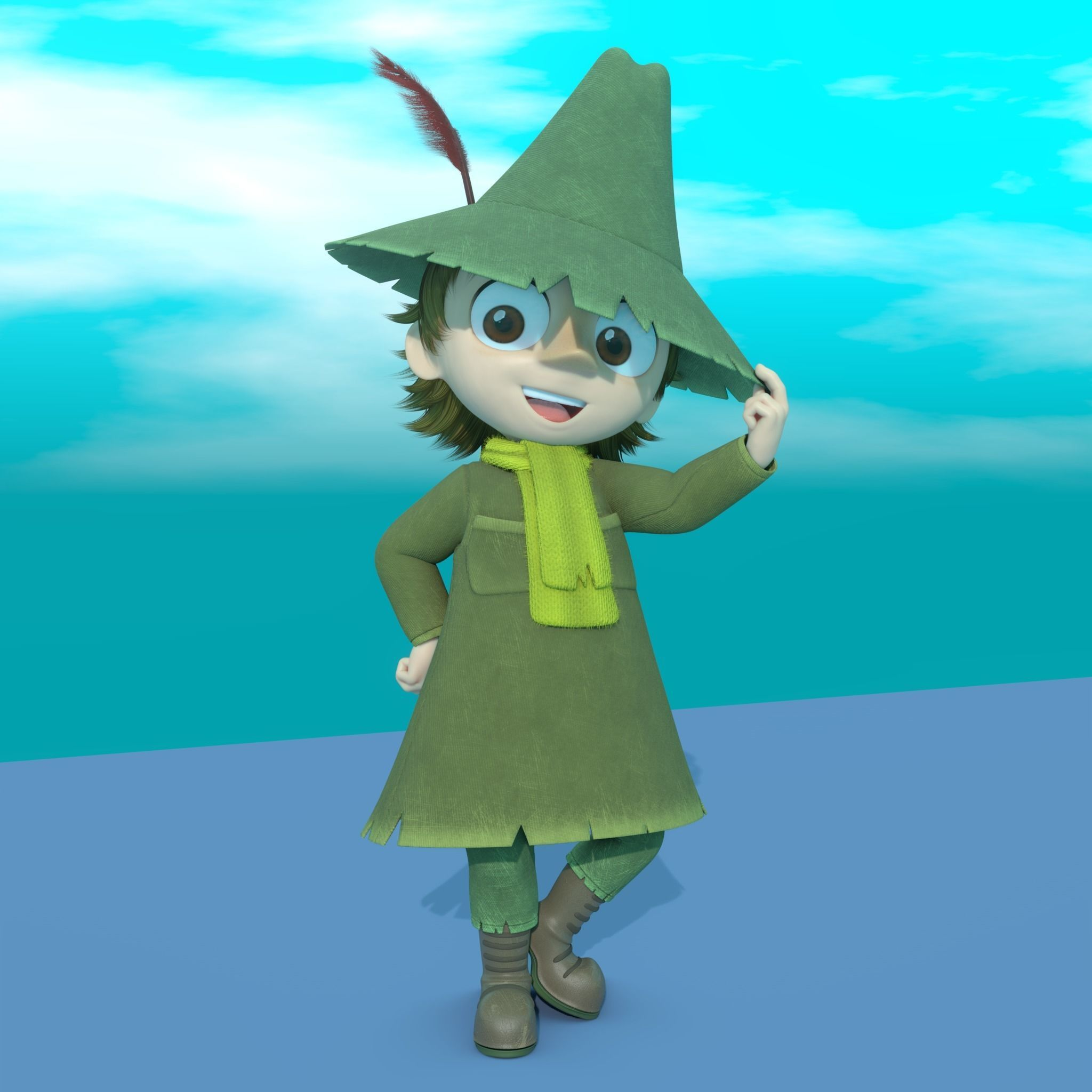 Snufkin Fully Rigged Fanmade