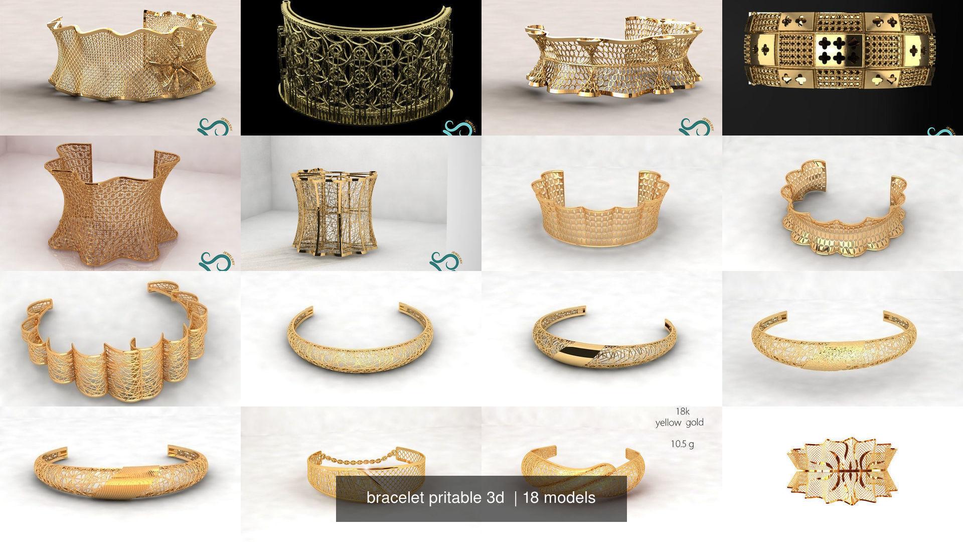 bracelet pritable 3d
