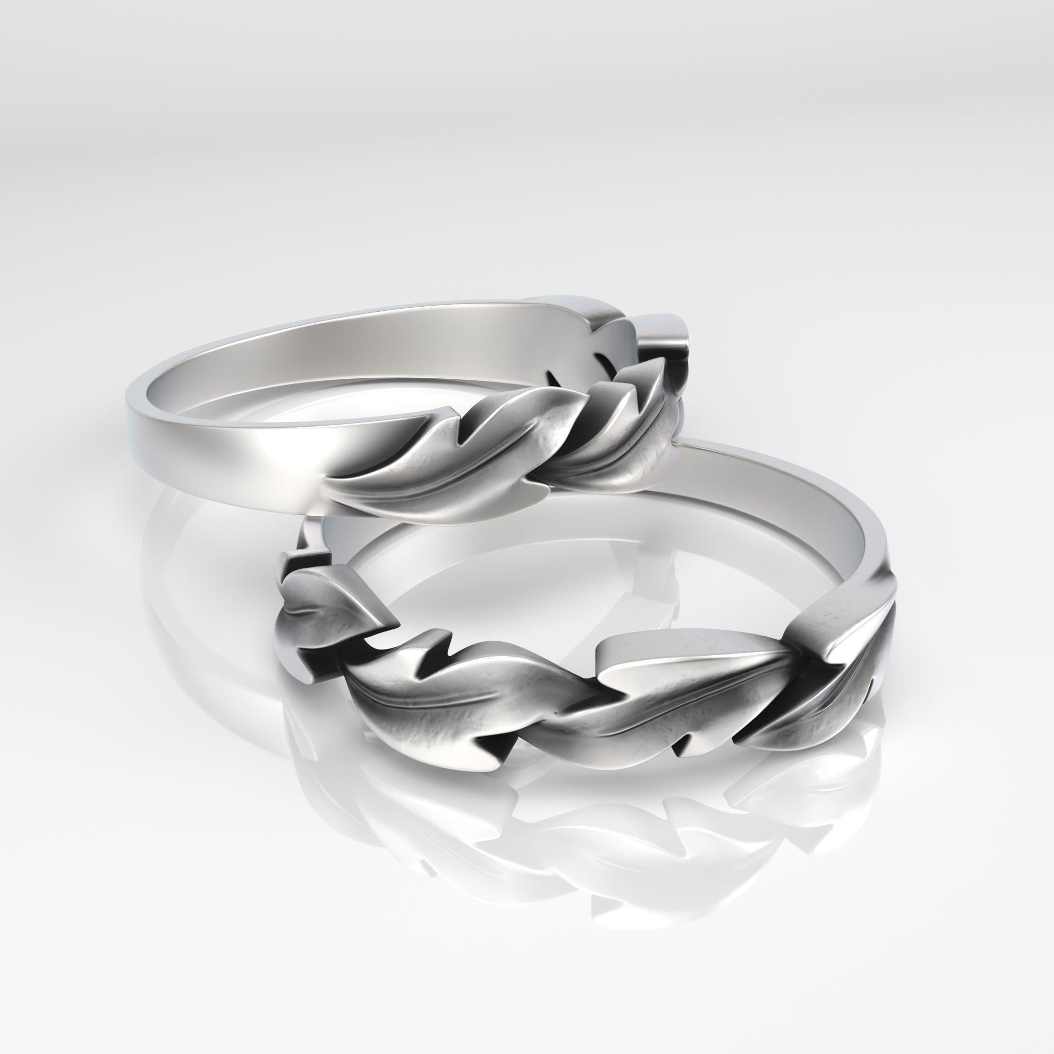 Ring  Leaves print model