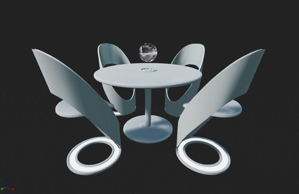 Futuristic Dining Table Set