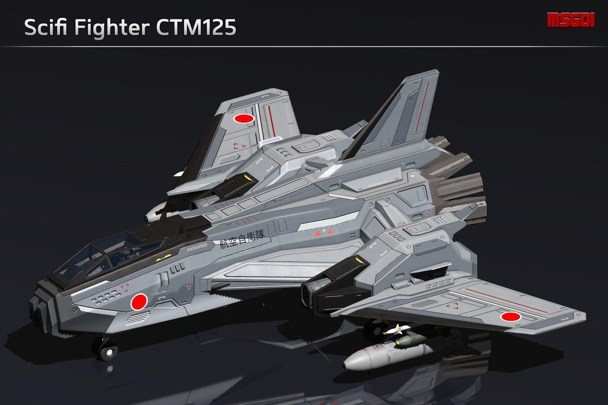 Scifi Fighter CTM125