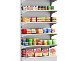 Market Shelf Instant Foods 3D model