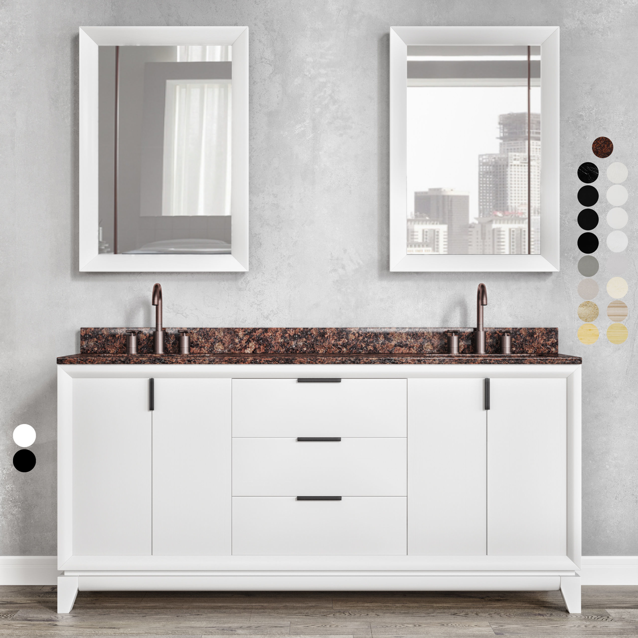 Furniture set Talyn 72 Black and White by Signature Hardware