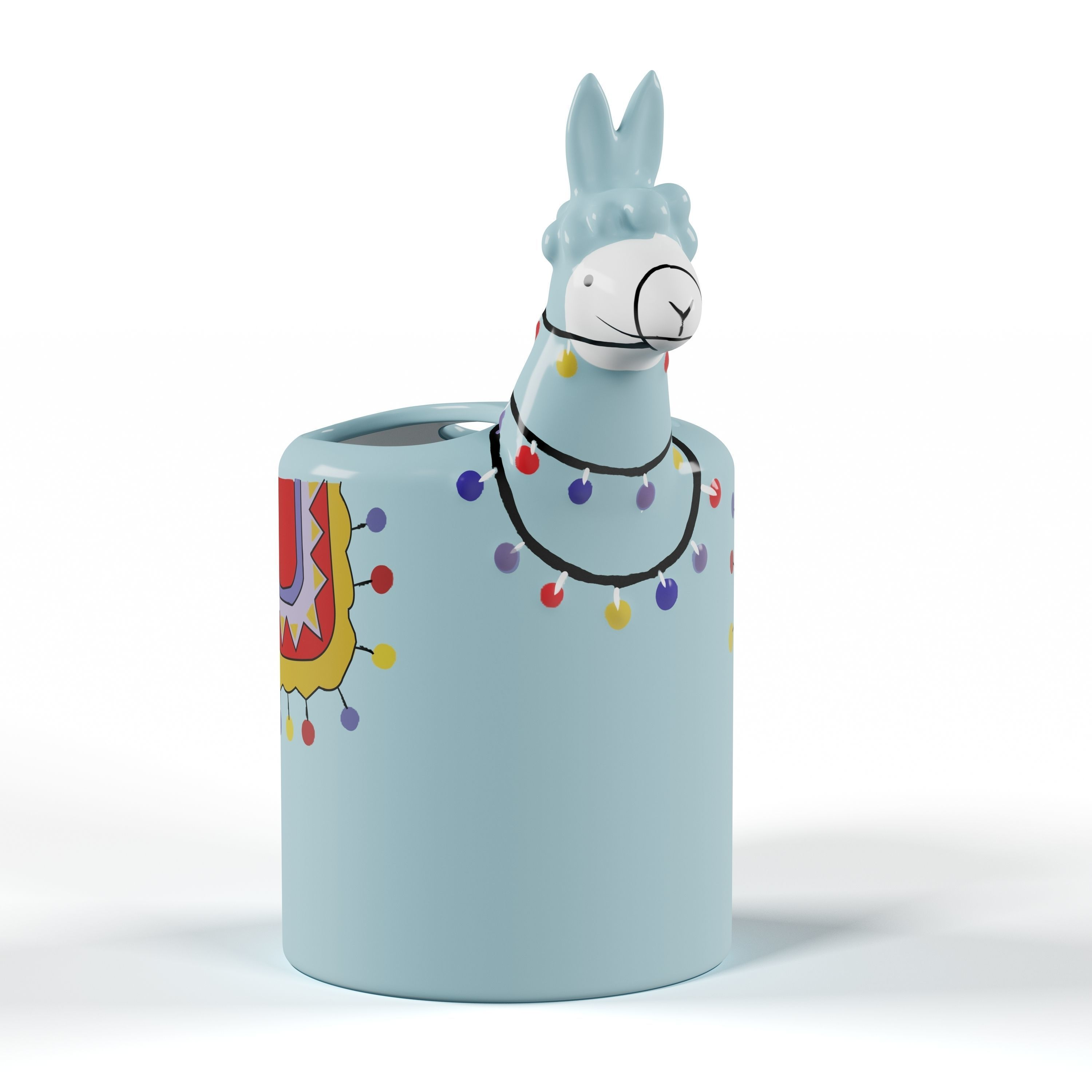 Llama shaped toothbrush container
