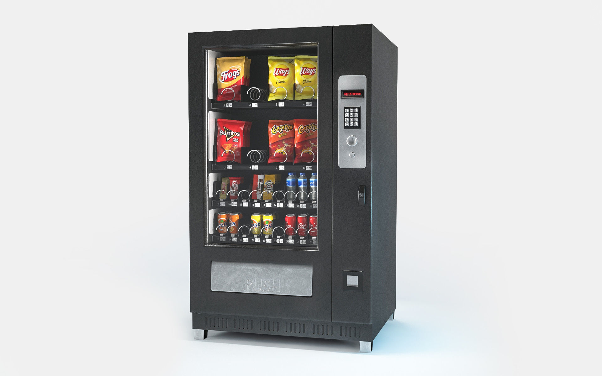 Vending machine Low-poly 3D model