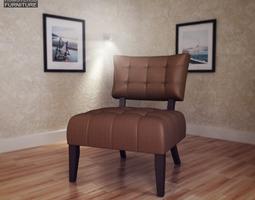 3D asset Beige Microfiber Chair Allen Park