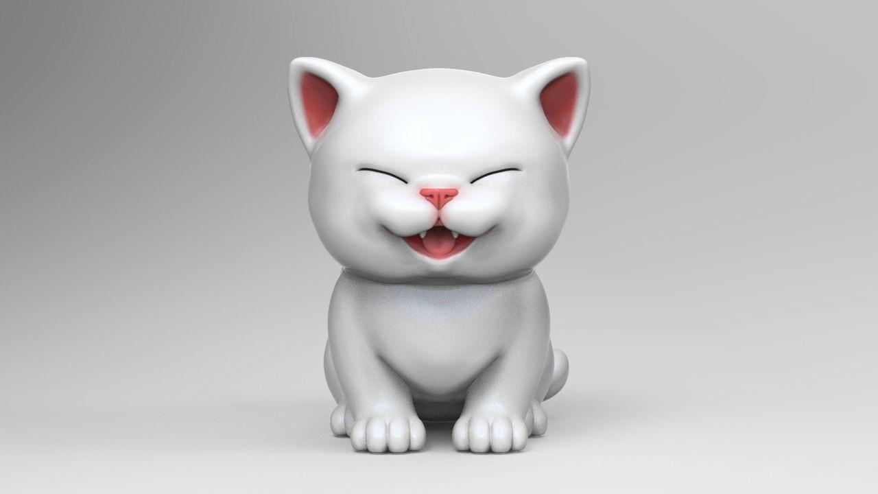 Cute Kitten V2 STL
