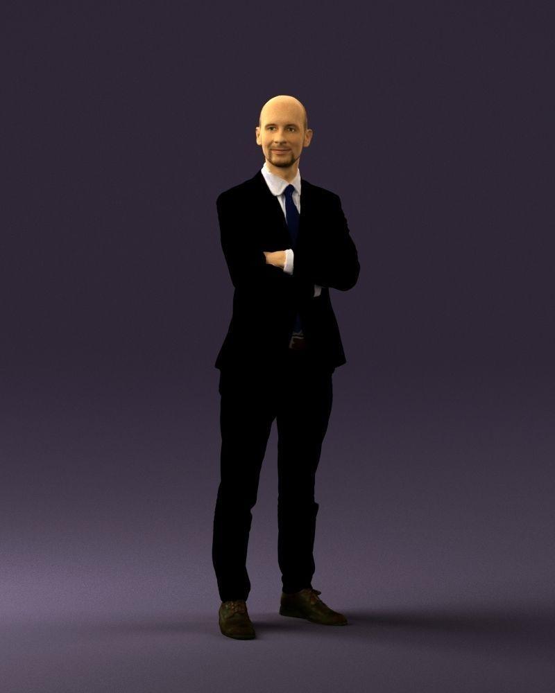 Man in black suit 0450